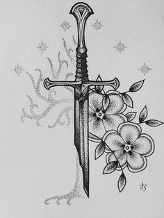Moonchild Art — Narsil and the White Tree of Gondor my facebook