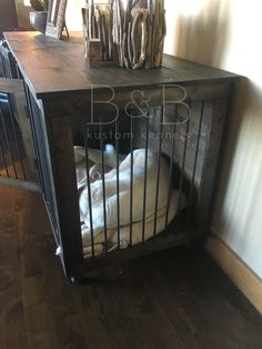 dog crate side table puppy love pinterest crate side table dog crate and crates - Dog Crate Side Tables