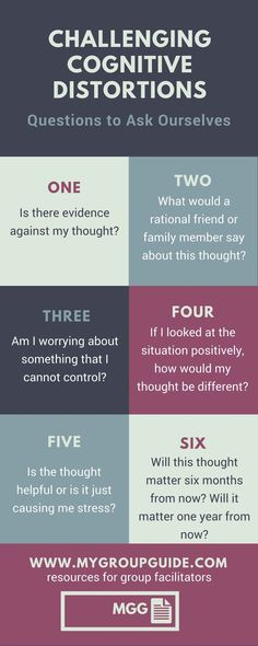 Challenging Cognitive Distortions: 6 Questions to Ask Yourself Psychologie Cognitive, Cognitive Distortions, Mental Health Counseling, Mental Health Therapy, Mental Health Resources, Mental Health Questions, Mental Health In Schools, Mental Health Journal, Therapy Tools