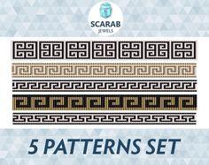 (5) Name: 'Jewelry : Greek Motifs 5 Patterns Set Loom Bead