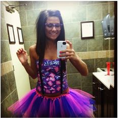Halloween costume: Candy nerd! Homemade tutu, duck tape shirt, and homemade suspenders! Easy costume to make :)