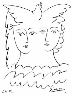 For Sale on - After Pablo Picasso - Women and Dove - Lithograph, Lithograph by (after) Pablo Picasso. Offered by Galerie Philia Fine Art. Pablo Picasso, Kunst Picasso, Art Picasso, Picasso Drawing, Picasso Images, Picasso Dove, Georges Braque, Picasso Sketches, Paintings