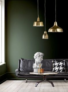 Trendene som vil bli store i 2016 - Interior Design Living Room, Living Room Decor, Living Spaces, Bedroom Decor, Green Home Decor, New Room, Beautiful Bedrooms, House Colors, Interior Inspiration