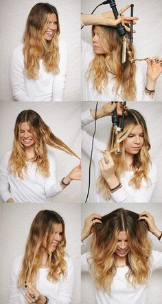A CUP OF JO: How to get perfect loose curls...but do you have to make those faces when you're curling to get the same results?!!