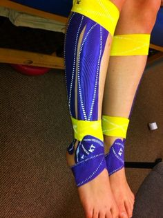 KT Tape Pro on a pairs skater