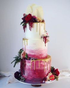 traditional wedding cakes 100 Pretty Wedding Cakes To Inspire You For An Unforgettable Wedding - watercolor wedding cake ,ombre wedding cake Elegant Birthday Cakes, Pretty Wedding Cakes, Wedding Cakes With Cupcakes, Floral Wedding Cakes, Elegant Wedding Cakes, Wedding Cake Rustic, Beautiful Wedding Cakes, Wedding Cake Designs, Wedding Cake Toppers