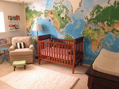 Kids Room Murals Book Shelves 58 Ideas For 2019 Kids Room Murals, Kids Room Paint, Kids Rooms, Baby Rooms, Map Nursery, Nursery Room, Child's Room, Nursery Ideas, Old Room