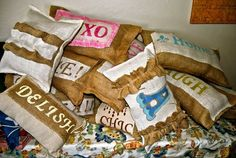 Burlap Pillows, oh my!