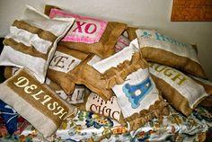 Burlap Pillows, oh my!