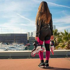 These are the Powerslide SWELL 100 Brink Pink fitness inline skate.  Performance meets fashion. A lightweight Powerknit upper, a reworked softboot shell with flex cuts & Recall fit memory foam provide superior comfort & support. The aluminum frame offers great power transfer. These 3 wheel skates come with long lasting 100mm wheels, fast Wicked Abec 7 bearings & a height adjustable brake. Lightweight, agile & stylish.  #welovetoskate  #powerslide #inlineskates #powerslideswell…