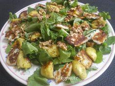 Rocket, haloumi cheese and fig salad
