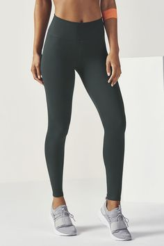 We're only going up from here. Welcome our first-ever high-waisted legging to the game. It features all of the performance elements (sweat-wicking & UPF 50+) that you love, along with a power mesh-lined waistband for extra support and streamlining. | Fabletics Lisette HIgh-Waisted Legging