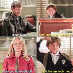 Duh, I'm ten. Walk me...<<<<< How Henry was so cute and sassy at that age...