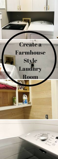 I am absolutely thrilled to finally share my Farmhouse Laundry Room with you!  We were very lucky to have gotten an extra week, thank you January for having 5 weeks this year!  Erin at Lemons, Lavender and Laundry started this challenge and I was very inspired by her Farmhouse Laundry Room.  The whole idea of the challenge is to renovate one room, in one month, for under $100 and I can't wait to share with  you all I did.