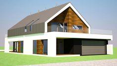 Nietuzinkowość i wysoka jakość architektoniczna budynku idzie w parze z jego funkcjonalnością. Kształt domu umożliwia umieszczenie go na stosunkowo wąskich działkach.