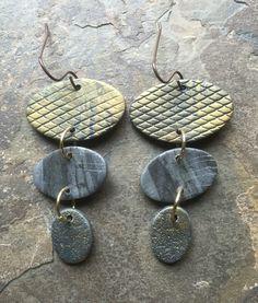 Polymer clay earrings by Linda Brooks