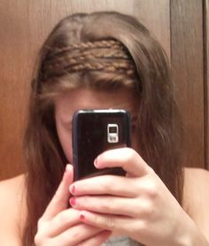 yes, i did this to my own hair. braided headbands