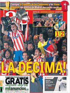 Los Titulares y Portadas de Noticias Destacadas Españolas del 18 de Mayo de 2013 del Diario Deportivo AS ¿Que le parecio esta Portada de este Diario Español?