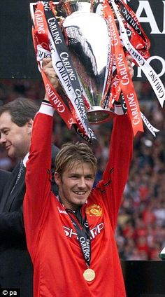 David Beckham in his Manchester United days