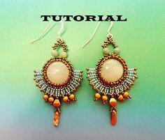 PDF for Romantic Beadwoven Earrings beading  pattern tutorial   - beaded seed bead jewelry - beadweaving . $5.50, via Etsy.