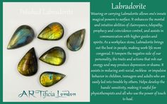 LABRADORITE Crystal Meaning and Uses #ARTificiaLondon #Labradorite…