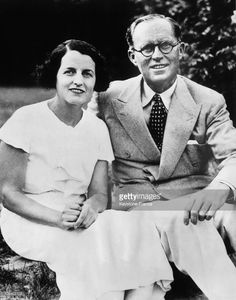 Portrait of Joseph Patrick KENNEDY and his wife Rose Fitzgerald KENNEDY September 1937. Joseph P. KENNEDY was the newly appointed United States ambassador to Great Britain.