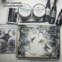 MARTA LAPKOWSKA - http://artistycrafty.blogspot.ie/2015/08/about-my-journal-love-video-tutorial.html