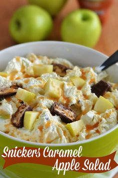 The Country Cook: Snickers Caramel Apple Salad. Actually more of a desert!
