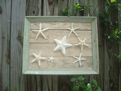 Framed Starfish Wall Decor by MyHoneypickles on Etsy, $78.00