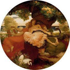 Frederic Leighton - The Garden of the Hesperides - Frederic Leighton…