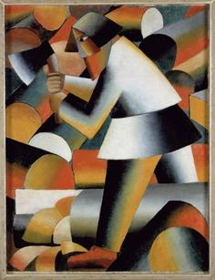 Kazimir Malevich: De houthakker - 1912 - Stedelijk Museum Amsterdam