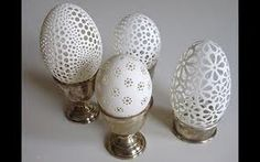 Called Wydmuszki, these eggs look like lace.