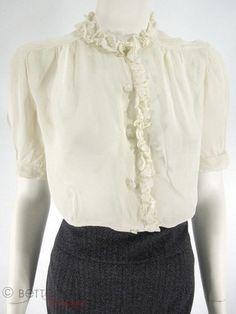 1930s-40s sheer blouse