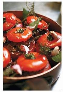 Recette Mes tomates farcies au boeuf miroton, notre recette Mes tomates farcies au boeuf miroton - aufeminin.com