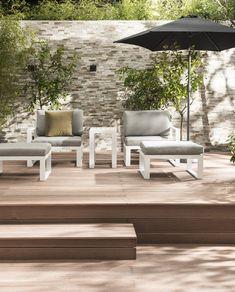 Creëer rust en ruimte in je tuin met deze wit grijze loungeset | White and grey lounge set | KARWEI 3-2018