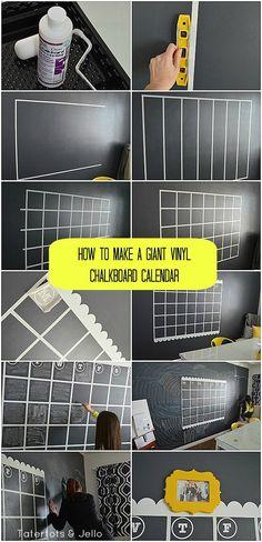 giant vinyl chalkboard calendar collage