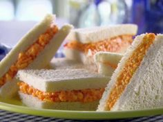 Pimiento Cheese Spread Recipe : Trisha Yearwood : Recipes : Food Network This reminds me of my childhood! Pimento Cheese Recipes, Pimiento Cheese, Tea Sandwiches, Soup And Sandwich, Finger Sandwiches, Sandwich Ideas, Food Network Recipes, Food Processor Recipes, Cooking Recipes
