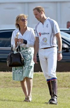Prince William, Duke of Cambridge at a charity polo match at Coworth Park Polo Club in Ascot. This is the first public appearance of Prince William since the birth of his son Prince George.