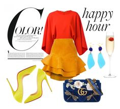 """""""Color Happy Hour"""" by daniellasummer on Polyvore featuring moda, STELLA McCARTNEY, Siobhan Molloy, Gucci, LSA International, Christian Louboutin, contest, chic, girly y happyhour"""