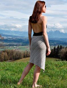Modern crochet skirt PATTERN for sizes S-2XL crochet TUTORIAL