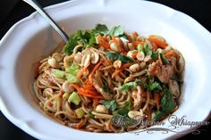 Thai Noodles with Chicken in a Spicy Peanut Sauce | The Kitchen Whisperer, LLC