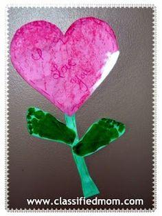"Marbling the ""Baby Way"" Valentine Heart Flower"