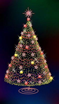 クリスマスツリー iPhone5 壁紙