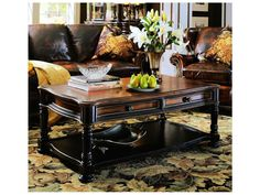 Hooker Furniture Preston Ridge Black 52''L x 30''W Rectangular Cocktail Table