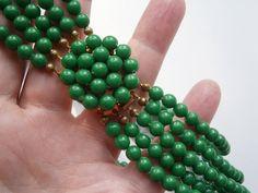 Perlenkette,60er Jahre Glamour,Sixties,mehrreihig von kunstpause auf DaWanda.com