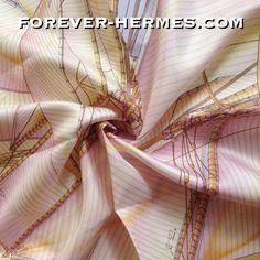 Hermes Scarf Silk Quot Vent Portant Ii Quot By Yannick Manier