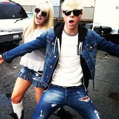 Rydel and Riker being themselves