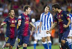 El cuadro azulgrana debutó en Liga frente a la Real Sociedad en el Camp Nou.