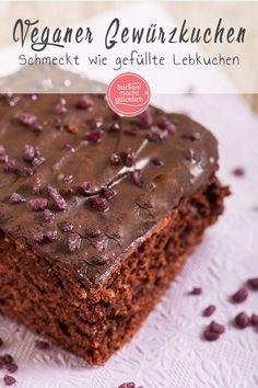 Vegan Chocolate Spice Cake Baking makes you happy- Veganer Schoko-Gewürzkuchen Vegan Sweets, Vegan Snacks, Vegan Recipes, Cakes Without Butter, Sweet Recipes, Cake Recipes, Cake Vegan, Happy Vegan, Vegan Christmas