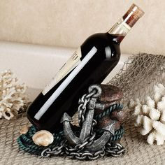 Nautical Wine Bottle Holder Multi Metallic